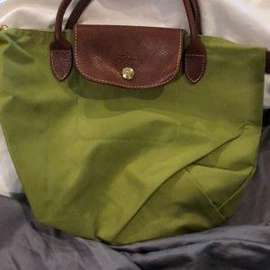 Longchamp small green tote